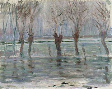 Les eaux de crue, Claude Monet sur