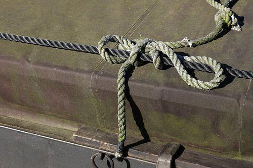 scheepstouw op boot