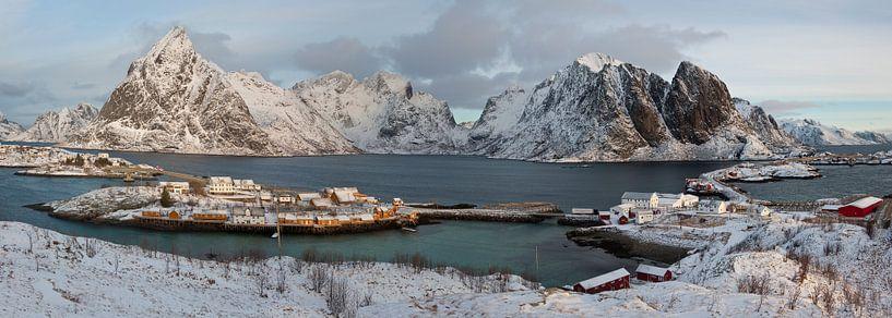 Noorwegen, Panorama Lofoten van Conny  van Kordelaar