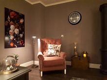 Kundenfoto: Blumenstrauß in einer Glasvase von Schilders Gilde, auf hd metal