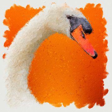 Porträt eines stummen Schwans (Gemälde) von Art by Jeronimo