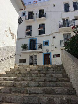 Gluren in de straten van Ibiza  van Tessel Robbertsen