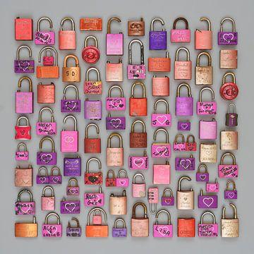Liefdesslotjes in paars van Floris Kok