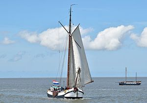 Navire de la flotte de cerfs bruns Spes Mea sur Piet Kooistra
