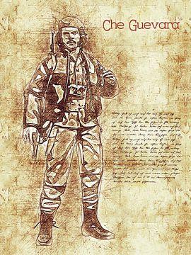 Che Guevara van Printed Artings