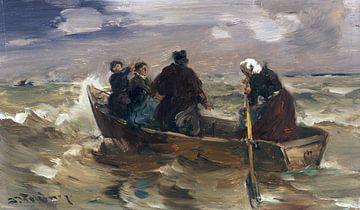 Stürmische Überfahrt, JOSEPH WOPFNER, Um 1920