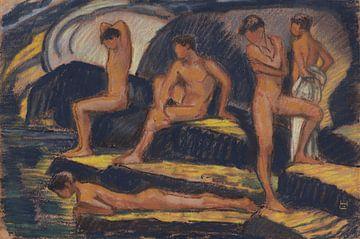 Badende Jungen - Ludwig von Hofmann, 1915 von Atelier Liesjes
