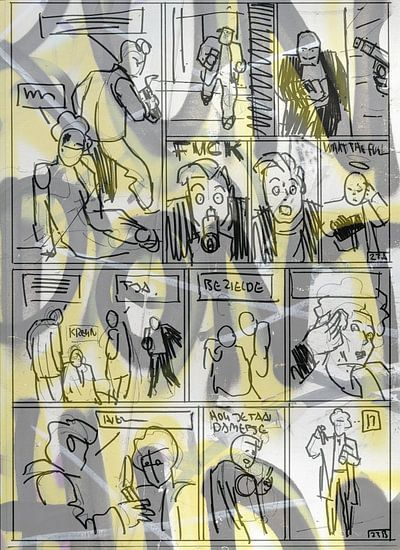 Strip Splinter Goes Urban (Schets p23-1) von MoArt (Maurice Heuts)