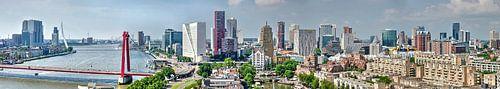 Ligne d'horizon de Rotterdam sur