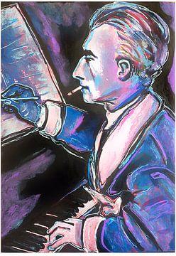 Porträt von Maurice Ravel von Helia Tayebi Art