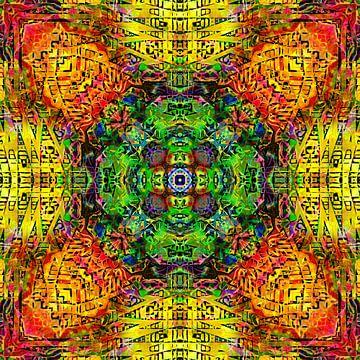 Mandala Liquidlight 3 van Arno Rollenberg