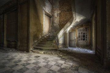 Verfallene Treppe von Wim van de Water