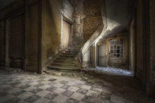 Vervallen trap van
