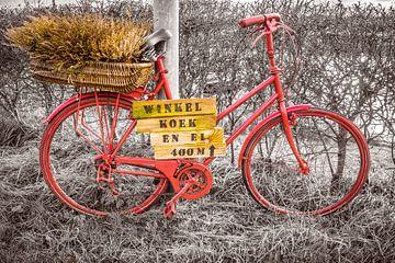 Rode fiets van Willem Visser