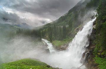 Krimml Wasserfalle van Jos Pannekoek
