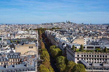 View to the basilica Sacre-Coeur in Paris, France van Rico Ködder