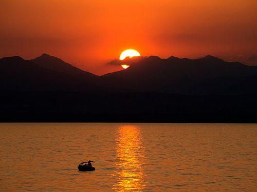Zonsondergang Gardameer Italië