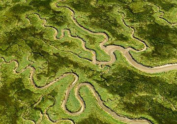 Verdronken Land van Saeftinghe van Sky Pictures Fotografie