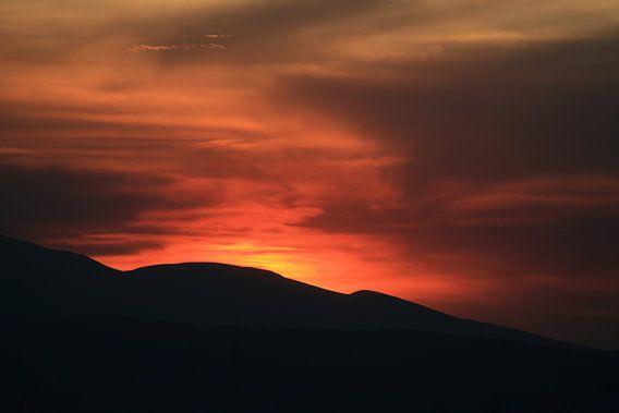 Ngorongoro Sunset van Gert-Jan Siesling