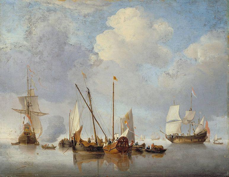 Eine Ruhe, Willem van de Velde der Jüngere. von Meesterlijcke Meesters