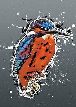 Eisvogel Vogel Kunst #Kingfisher von JBJart Justyna Jaszke