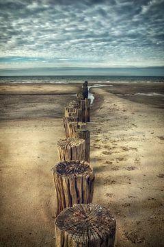 Beach in October sur Claudia Moeckel
