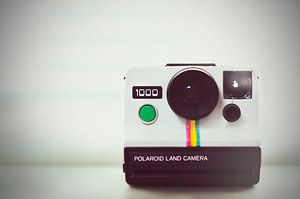 Retro Vintage Polaroid land camera 1000 foto print voor aan de muur