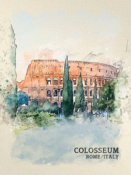 Colosseum van Printed Artings