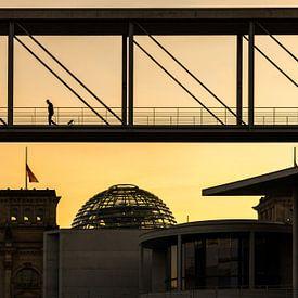 Berlin Regierungsviertel im Sonnenuntergang von Frank Herrmann