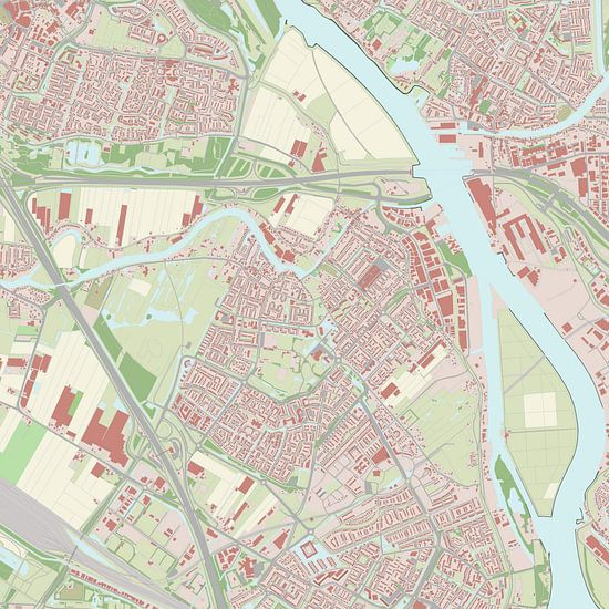 Kaart vanHendrik-Ido-Ambacht van Rebel Ontwerp