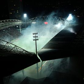 Rauchen Stadion Galgenwaard in Utrecht vor Beginn des Halbfinales KNVB Cup von Donker Utrecht