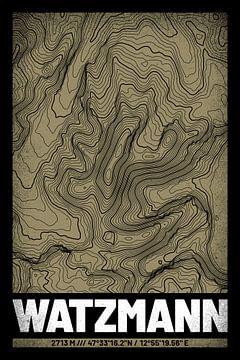 Watzmann | Kaart Topografie (Grunge) van ViaMapia