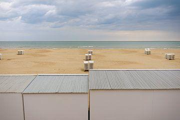 Koksijde strand tijdens de ochtend van Johan Vanbockryck