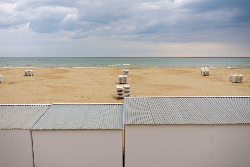 Une plage insolente le matin sur Johan Vanbockryck