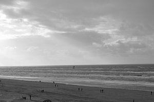 strand zwart wit