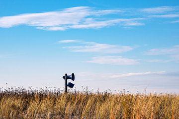 Lautsprecher in den Dünen an der Ostseeküste in Graal-Müritz von Rico Ködder