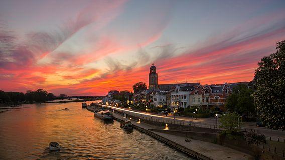 Deventer zonsondergang van Edwin Mooijaart