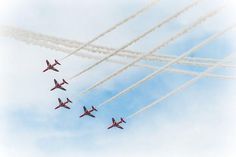 Red Arrows vliegshow van Wim Slootweg