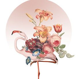 Pink Flamingo Art van Marja van den Hurk