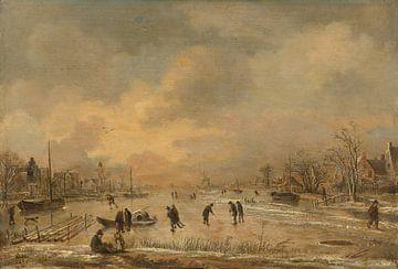 Winterlandschaft mit Häusern, Aert van der Neer
