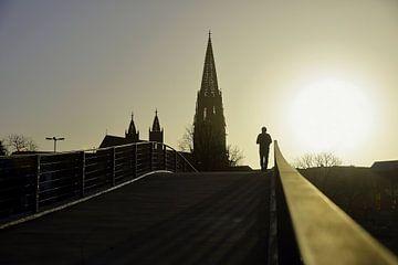 Zonsondergang in Freiburg van Patrick Lohmüller