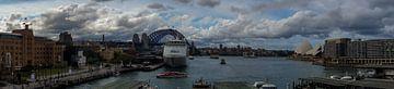 Panorama Sydney Harbour and cicular Quay van Tessa Louwerens