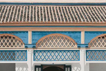 Farbenfrohe Dächer und Wände in Marrakech von Sophia Eerden