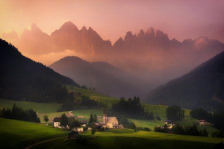 Val Di Funes sunrise