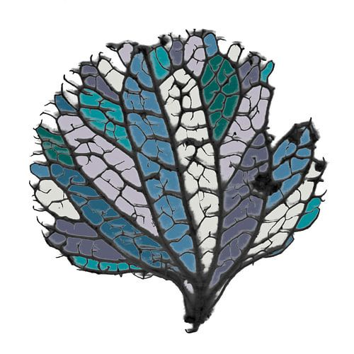 Ingekleurde bladnerven van Raoul Suermondt