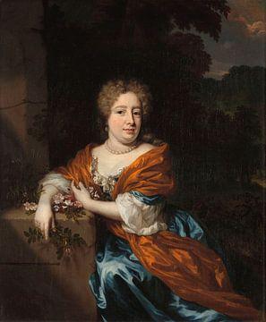 Portret van Petronella Dunois, Nicolaes Maes sur
