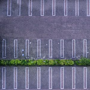 Parkeerplaats gezien van boven