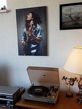 Klantfoto: Bob Marley olieverf portret van Bert Hooijer, op canvas