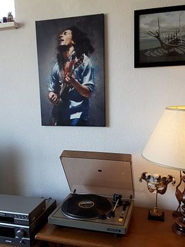 Klantfoto: Bob Marley olieverf portret van Bert Hooijer