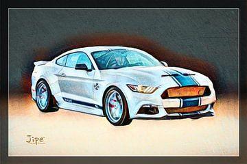 Ford Mustang van JiPé digital artwork